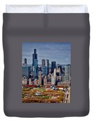 Chicago Looking West 02 Duvet Cover