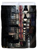 Chicago Loop, Goodman Theater Marguee Duvet Cover