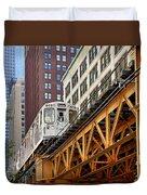 Chicago Loop 'l' Duvet Cover