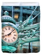 Chicago Marshall Field State Street Clock Duvet Cover