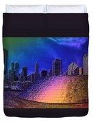 Chicago Millennium Park Bp Bridge Pa 01 Prismatic Duvet Cover