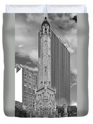 Chicago - Old Water Tower Duvet Cover by Christine Till