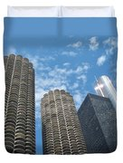 Chicago On A Bright Blue Day Duvet Cover