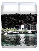 Chicago Parked On The River In June 03 Pa 01 Duvet Cover