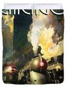 Chicago Railway, Steam Trains Duvet Cover