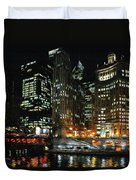 Chicago River Crossing Duvet Cover