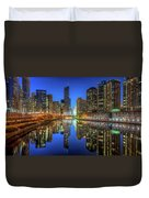 Chicago River East Duvet Cover