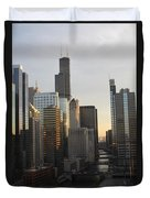 Chicago River View Duvet Cover