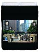 Chicago River Walk Invites You Duvet Cover