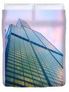 Chicago Sears Willis Tower Pop Art Duvet Cover