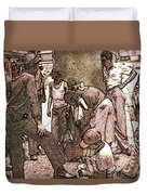 Chicago Shoeshine Boys - Pencil Duvet Cover