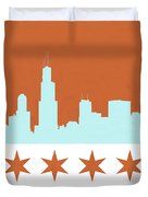 Chicago Skyline 540 3 Duvet Cover