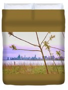 Chicago Skyline - The View From Montrose Point Duvet Cover