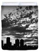 Chicago Skyline At Dusk Duvet Cover