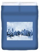 Chicago Skyline-blue 2 Duvet Cover
