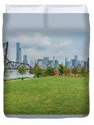 Chicago Skyline From The Southside Duvet Cover