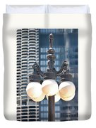 Chicago Street Lamps Duvet Cover