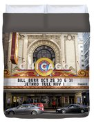 Chicago Theater Marquee Jethro Tull Signage Duvet Cover
