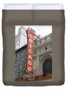 Chicago Theater Sign Duvet Cover
