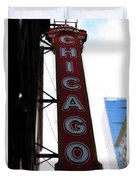 Chicago Theater Sign Duvet Cover