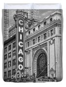 Chicago Theatre Bw Duvet Cover
