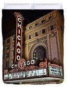 Chicago Theatre Duvet Cover