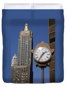 Chicago Time Duvet Cover