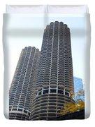 Chicago Twin Corn Cob Building  Duvet Cover