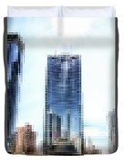Chicago Under Construction On The River 02 Pa Duvet Cover
