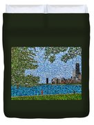 Chicago - View From Lakefront Trail Duvet Cover