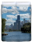 Chicago - View From Lincoln Park Lagoon Duvet Cover