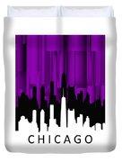 Chicago Violet Vertical  Duvet Cover