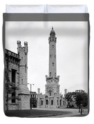 Chicago Water Tower 1933 Duvet Cover