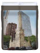 Chicago Water Tower 1b Duvet Cover