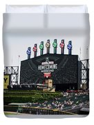 Chicago White Sox Home Coming Weekend Scoreboard Duvet Cover