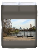 Chicago With Benches Duvet Cover