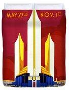 Chicago, World's Fair, Vintage Travel Poster Duvet Cover