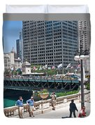 Chicago's Dusable Bridge On N. Michigan Avenue Duvet Cover