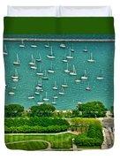 Chicago's Dusable Harbor  Duvet Cover