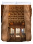 Chicagos Union Station Entry Duvet Cover