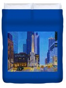 Chicago's Water Tower At Dusk Duvet Cover