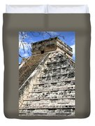 Chichen Itza Up Close Duvet Cover
