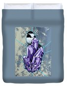 Chickadee And Amethyst Duvet Cover
