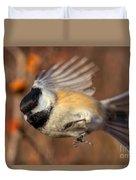Chickadee Blurrrr Duvet Cover
