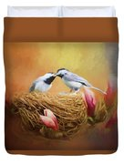 Chickadee Lunch Duvet Cover
