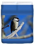 Chickadee Moments Duvet Cover