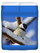 Chickadee... Duvet Cover