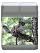 Chickaree On The Tree Duvet Cover