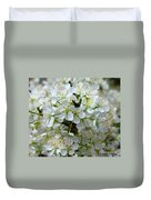 Chickasaw Plum Blooms Duvet Cover