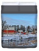 Chickasaw Winter Duvet Cover